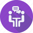 business, finance, financial, meeting, profit, statistics icon
