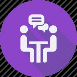 business, finance, financial, meeting, profit, statistics icon