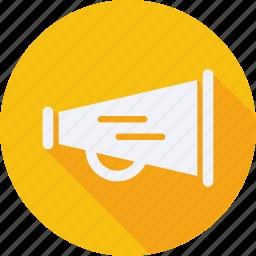 business, finance, financial, megaphone, profit, statistics icon