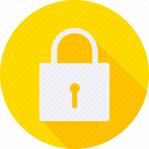 business, finance, financial, padlock, profit, statistics icon