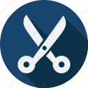 business, finance, profit, scissors icon