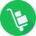 business, finance, financial, profit, statistics, trolley icon