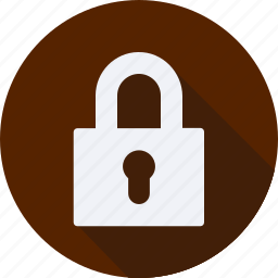 business, finance, financial, padlock, profit, statistics icon