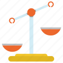 balance, judge, justice, law, scales icon