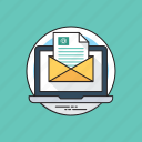 business mail, electronic mail, email marketing, official letter, professional email icon