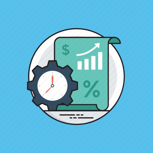 analysis, development, growth, performance, progress, report icon