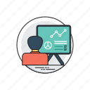 business development, competitive strategy, growth analysis, infographic, progress analyzation icon
