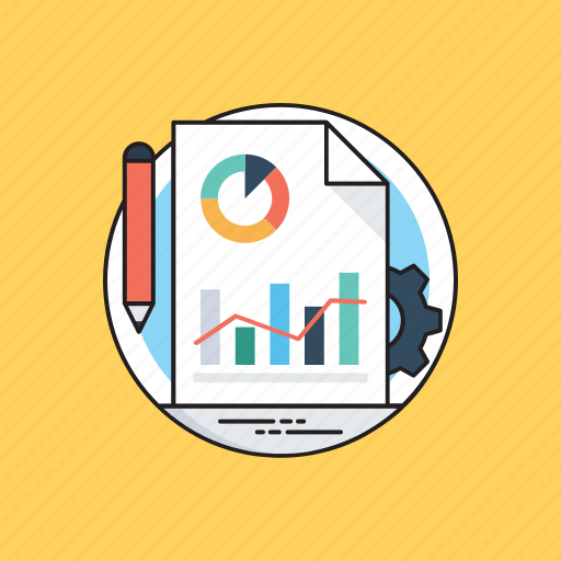 business report, business research, data computation, data evaluation, statiscal analysis icon