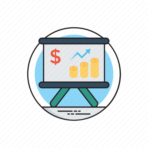 business cycle, increase in sales, revenue growth, revenue performance, trade business icon