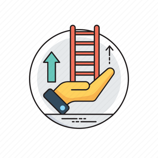 career advancement, career development, ladder of success, success roadmap, succession planning icon