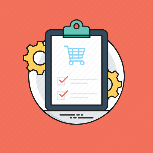 customer orders, internet shopping, online business, order management, order processing icon