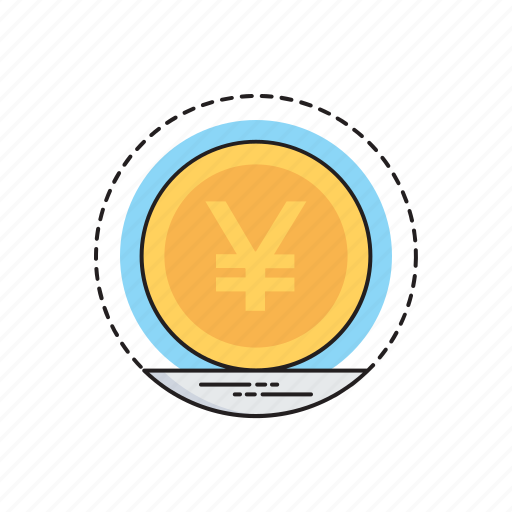 healthy money, international currency, japanese currency, money conversion, yen coin icon