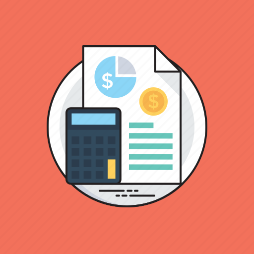 accountant calculator, budget planning, business accounts, tax calculator, tax planning icon