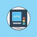 atm machine, atm withdrawal, banking machine, cash withdrawal, money dispenser, money transaction icon