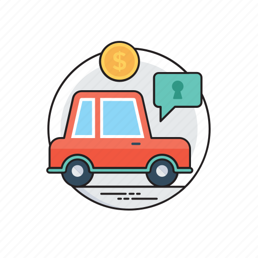auto loan, car finance, motor credit, personal contract purchase, vehicle leasing icon