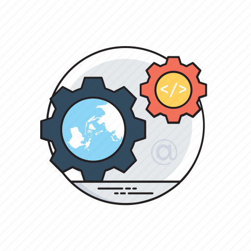business process, implementation project, project development, project management, workflow planning icon