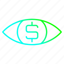 business, eye, money, visible, vision icon