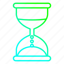 business, hourglass, timer, watch icon