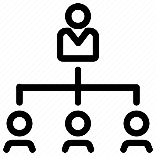 business, employee, graph, leadership, office, organization icon