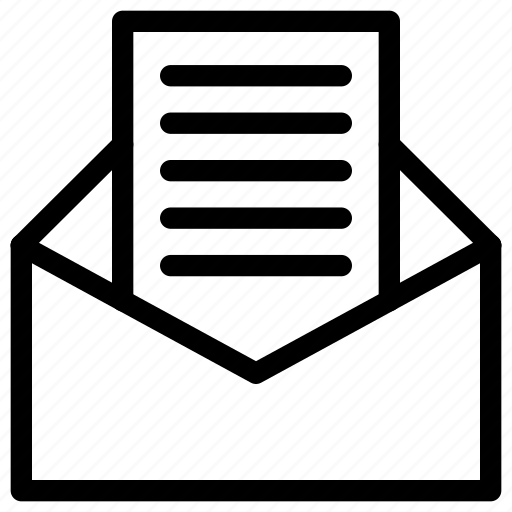 business, letter, mail, message, office icon