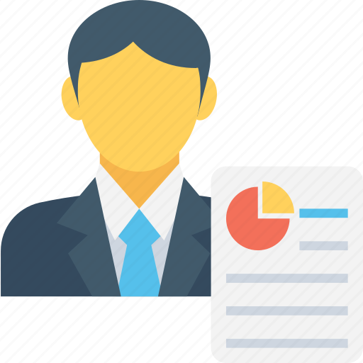 analyst, businessman, economist, report graph report icon