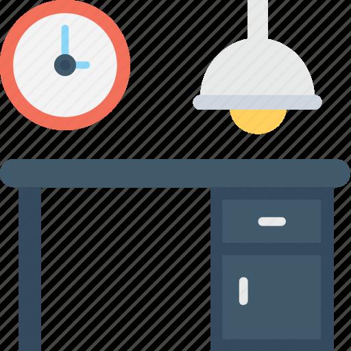 desk, office, studio, workspace, workstation icon