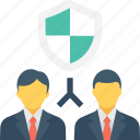 brokers, businessmen, insurance, insurance agent, shield icon