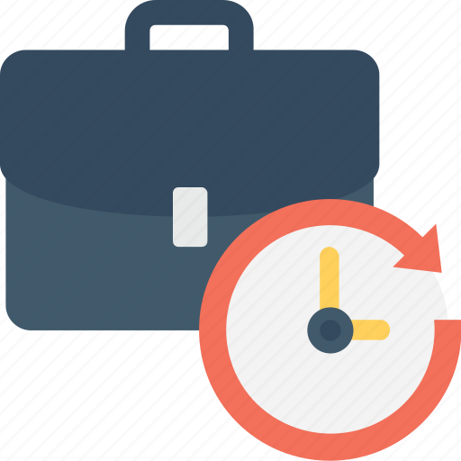 appointment, briefcase, clock, meeting, schedule icon