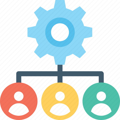 employees, hierarchy, management, organization, workflow icon