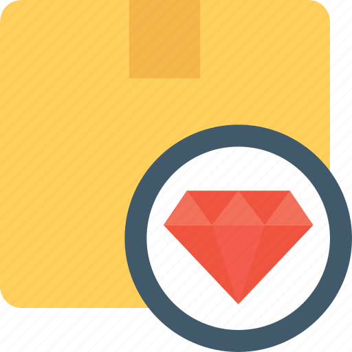 diamond, jewel, jewelry case, package, parcel icon