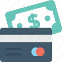 banking, banknote, credit card, financial, money icon