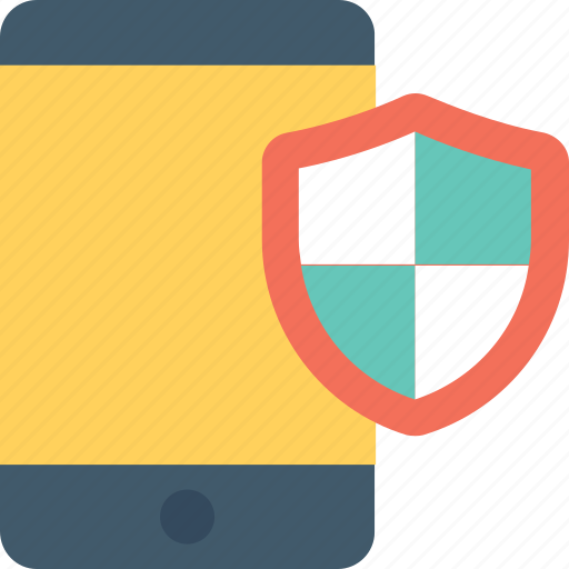 mobile, mobile security, protection, security app, shield icon