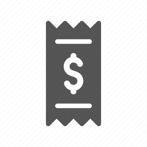 bill, buy, invoice, payment, receipt icon