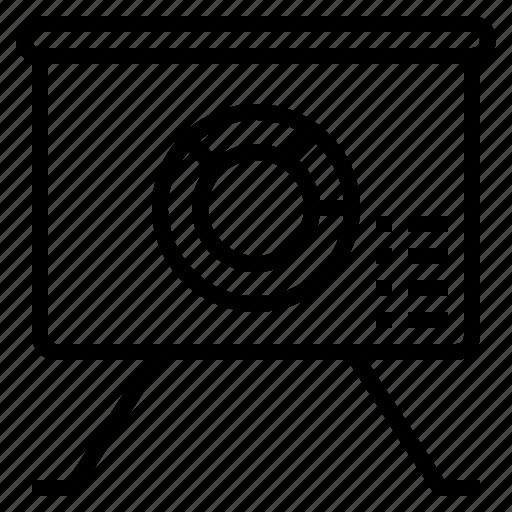 chart, diagram, graph, piechart icon