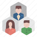 career, department, division, employee, group, office, target icon