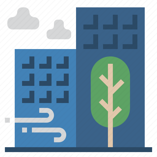 building, cology, eco, environment, office, plant icon
