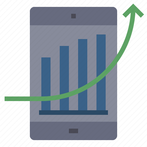 analytics, business, financial, graph, growth, increase, report icon