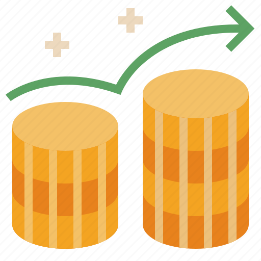 business, financial, growth, increase, revenue, rise icon