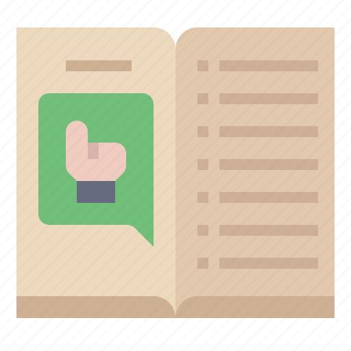 book, guide, information, instruction, manual, tutorial icon