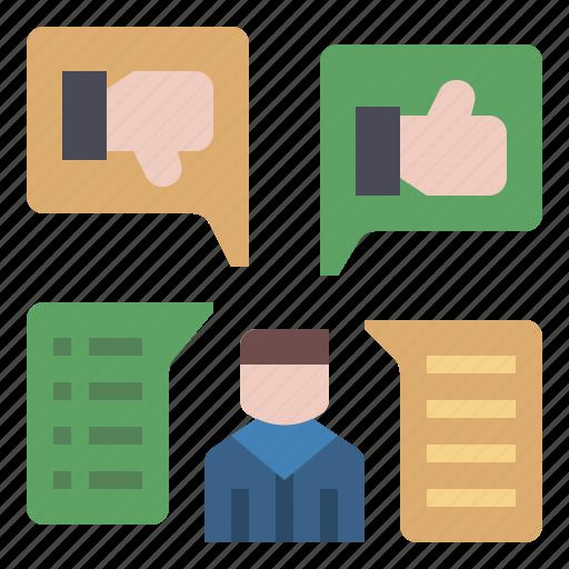 comment, communication, feedback, forum, opinion, social media, talk icon