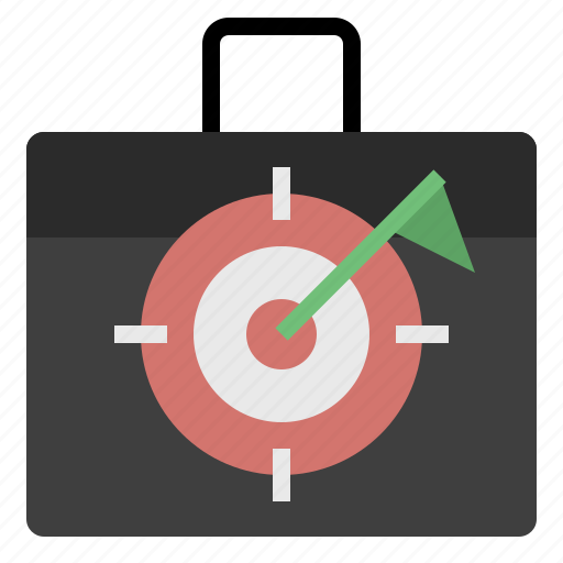 aim, arrow, business, goal, target, targeting icon