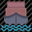 boat, cargo, logistics, sea, ship, transport, transportation icon