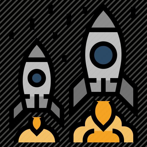 advantage, business, competition, competitive, rocket, success icon