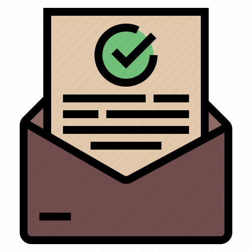 approval, business letter, confirm, confirmation, letter, mail, permission icon