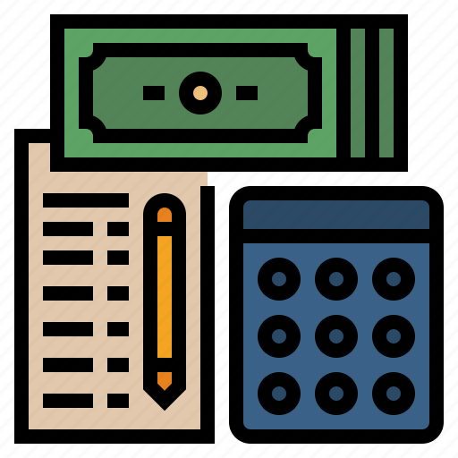 budget, calculate, costs, expenditure, expenses, financial, tax icon