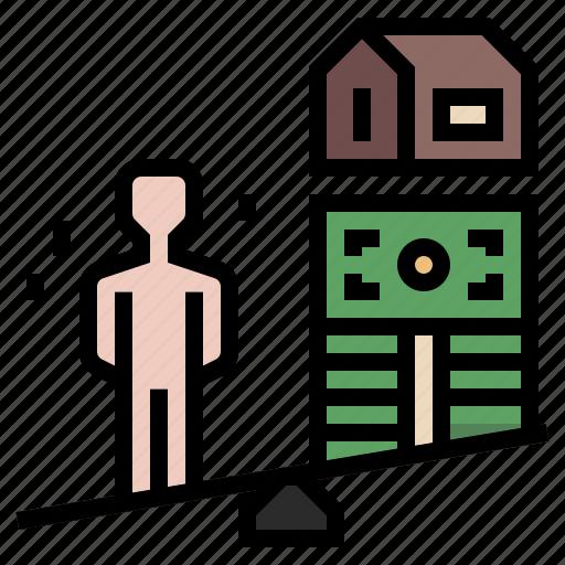 asset, business, debtor, financial, liabilities, loan, money icon