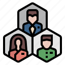 career, department, division, employee, group, people, target icon