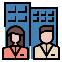 business, department, employee, employment, office, people, worker icon