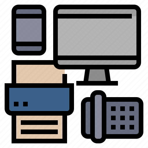business, computer, equipment, fax, office, printer icon