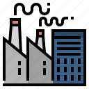 building, energy, factory, industrial, industry, manufacture icon